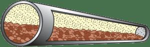 Dense phase Moving pipe