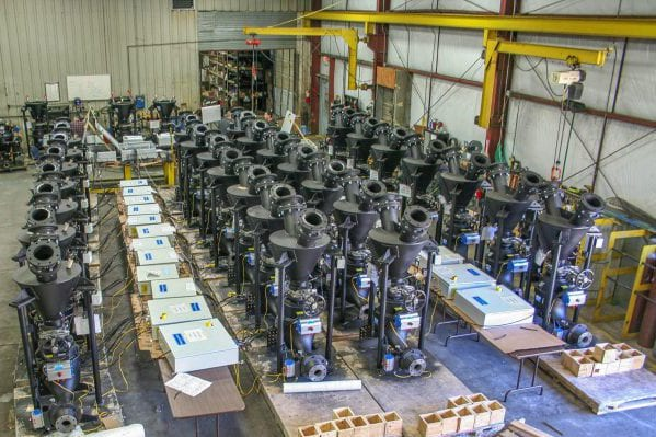 Macawber Engineering, Inc. | Dense-Phase Pneumatic Conveying