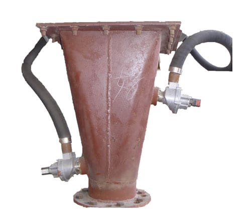 airlift pneumatic conveying flow aid device